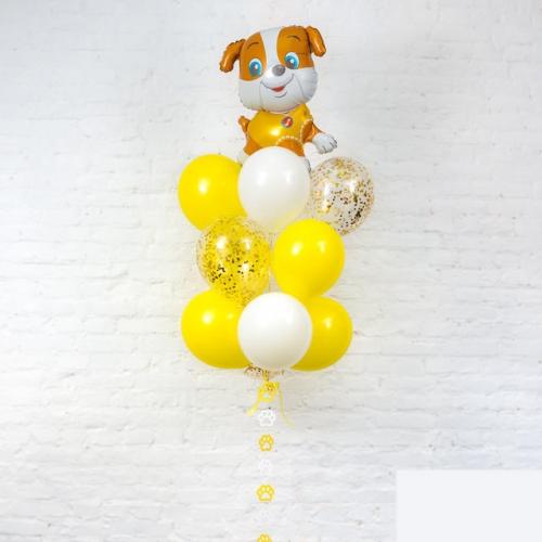 """Набор """"Милый щеночек"""" из гелиевых надувных шариков в подарок ребенку - фото 1"""