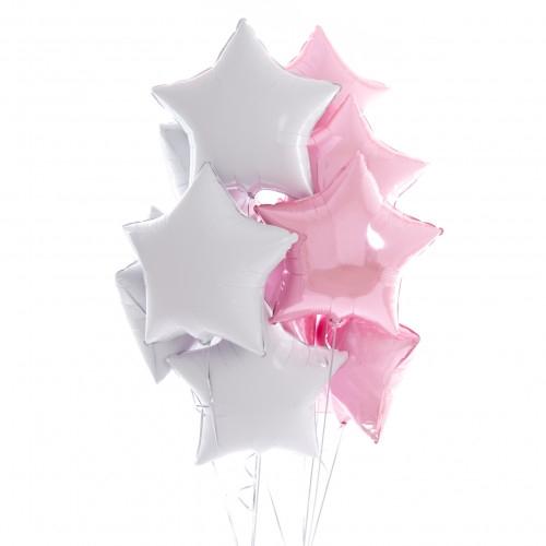 """Подарок """"Шелковый свет"""" из 10 гелиевых надувных шариков - фото 1"""
