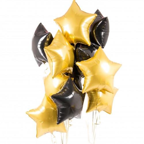 """Набор из черных и золотых шариков """"Свет в ночи"""" - фото 1"""