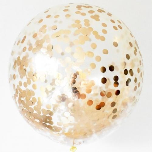 Большой шар-гигант с конфетти золото - фото 1