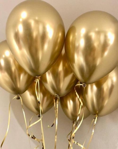 """Комплект """"Хром Золото"""" из 25 шаров под потолок - фото 1"""