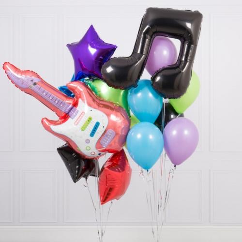 """Набор """"Музыкант"""" в подарок на праздник из надувных шаров - фото 1"""