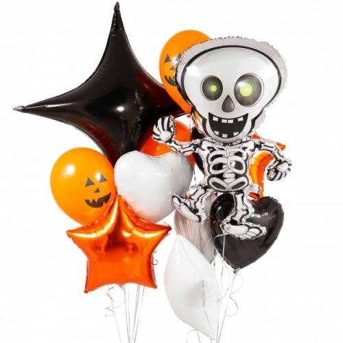 """Комплект на Хеллоуин """"Забавный скелетон"""" из фольгированных надувных шариков - фото 1"""