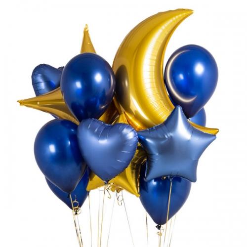 """Набор """"Сумерки"""" из надувных шариков и фольгированных фигур - фото 1"""