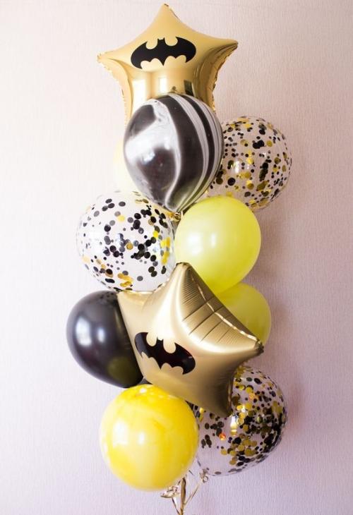 """Набор """"Бетмен"""" на праздник из гелиевых надувных шариков - фото 1"""