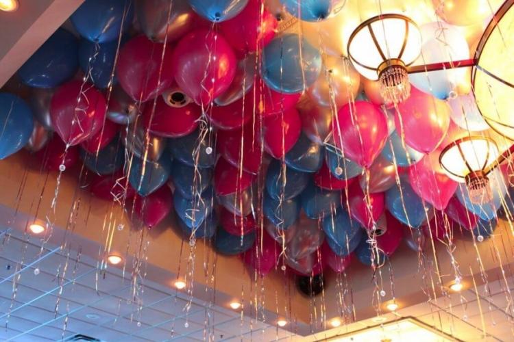 """Гелиевые воздушные шары под потолок """"Ягодный микс"""" - фото 1"""