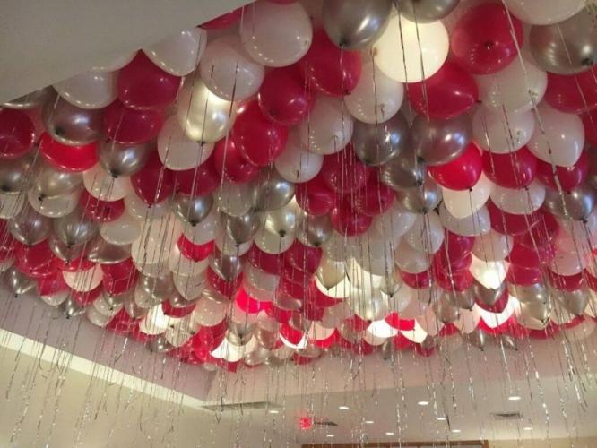 """Набор из 50 шаров под потолок""""Малиновый свет"""" - фото 1"""