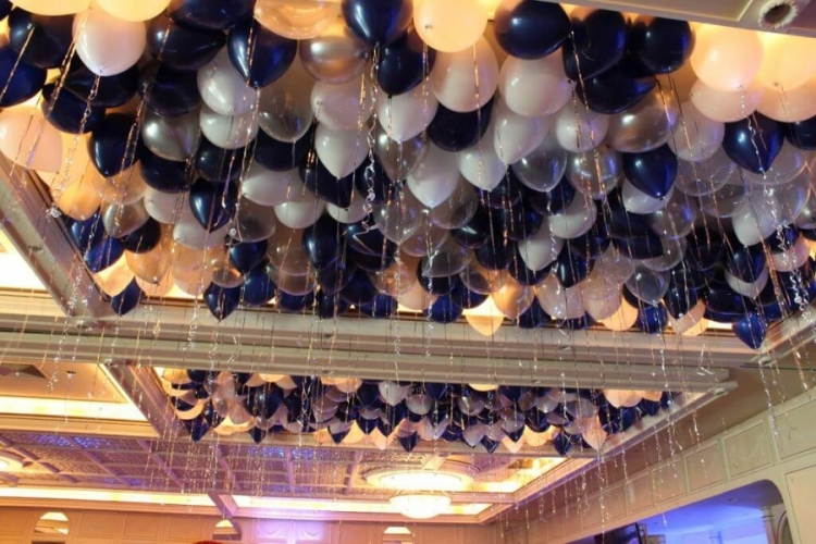 """Воздушные шары под потолок """"Звезды в ночи"""" 50 штук - фото 1"""