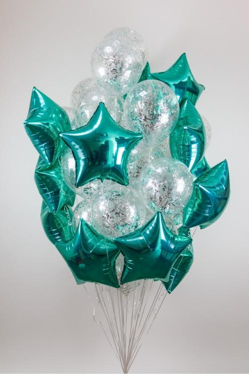 """Композиция """"Одуванчик"""" из гелиевых надувных шариков в подарок - фото 1"""