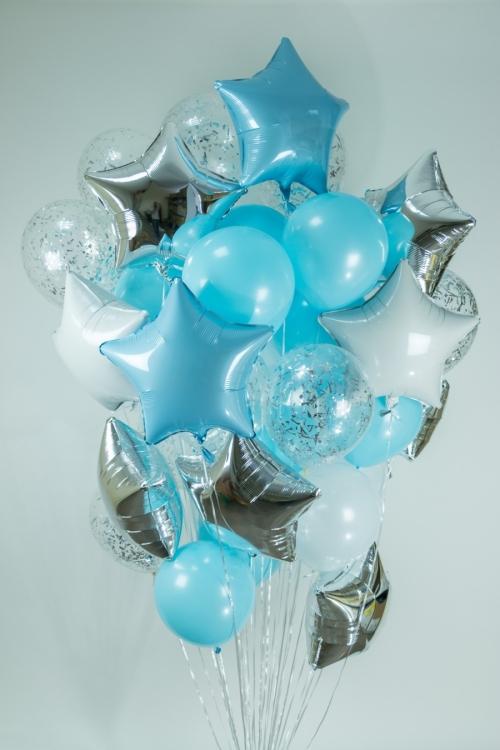 """Композиция """"Звездное небо"""" из гелиевых надувных шариков - фото 1"""