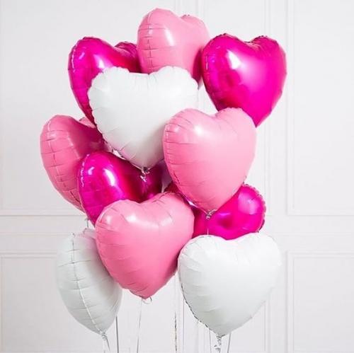 """Набор """"Моя любовь"""" из 10 фольгированных сердец - фото 1"""