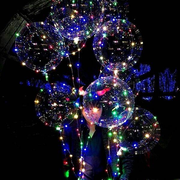 Воздушные шары со светодиодной лентой - фото 1