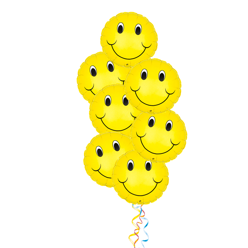 """Набор """"Улыбака"""" из 8 фольгированных шаров - фото 1"""