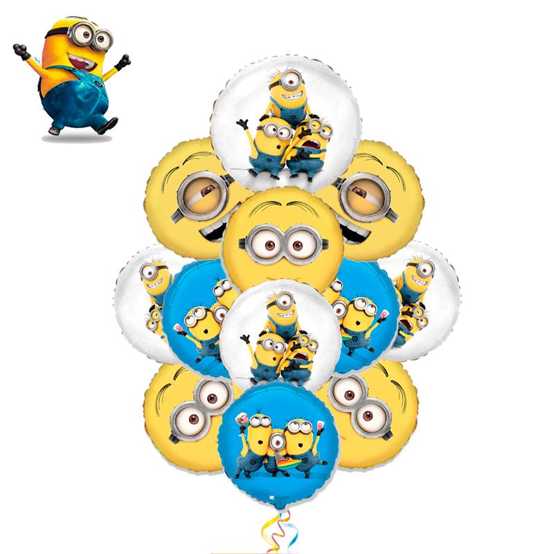 """Композиция """"Друзья Миньоны"""" из 11 фольгированных шариков - фото 1"""