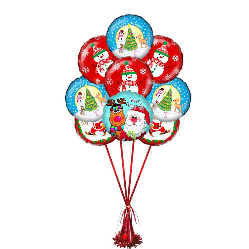 """Композиция """" Новый Год"""" из 9 фольгированных шариков - фото 1"""