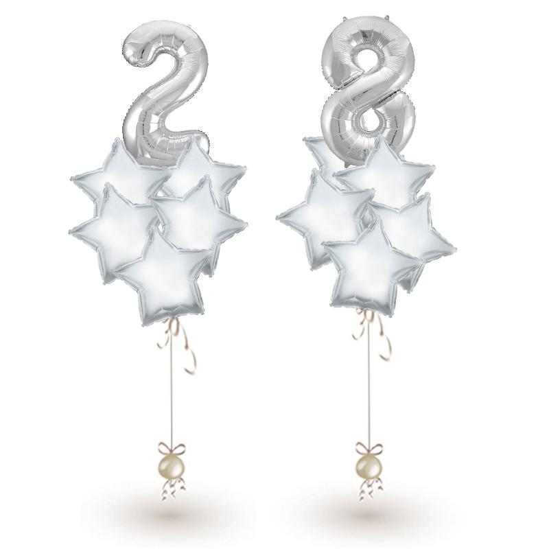 """Букет """"Звезды"""" из фольгированных шариков в подарок на праздник - фото 1"""