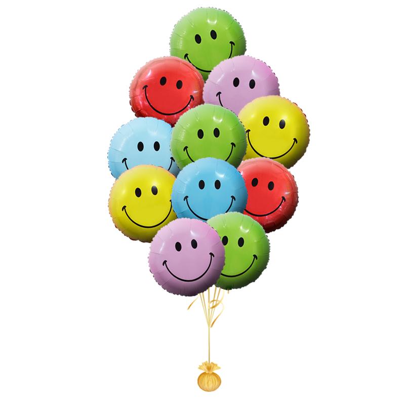 """Композиция """"Веселый Смайлик"""" из надувных шариков в подарок - фото 1"""