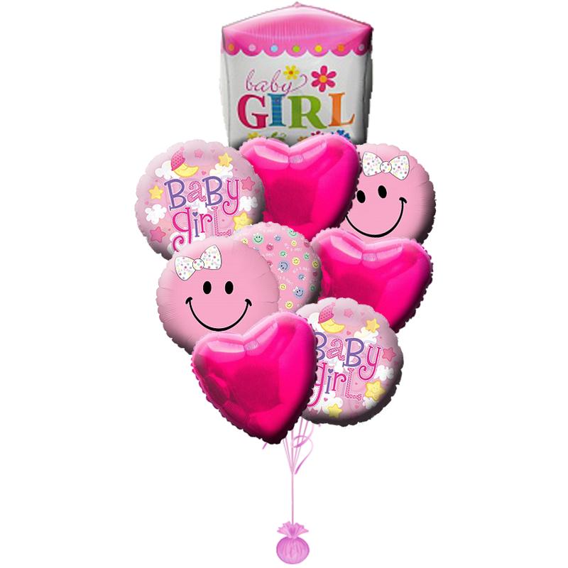 """Набор """"Baby girl"""" из фольгированных шариков в подарок девочке - фото 1"""