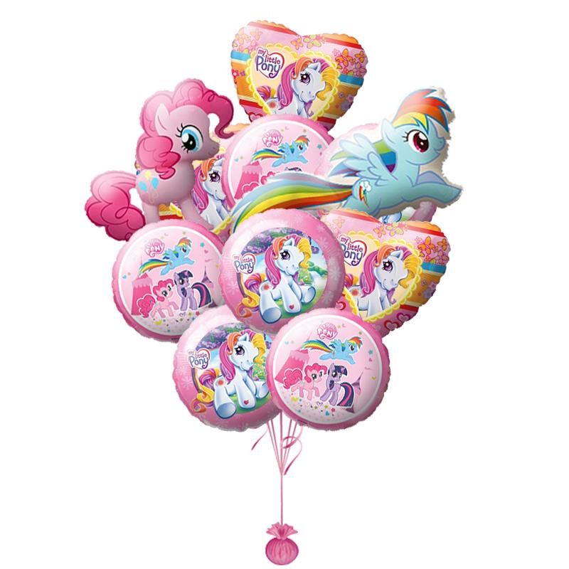 """Набор """"Пони"""" из 11 фольгированных шариков в подарок - фото 1"""
