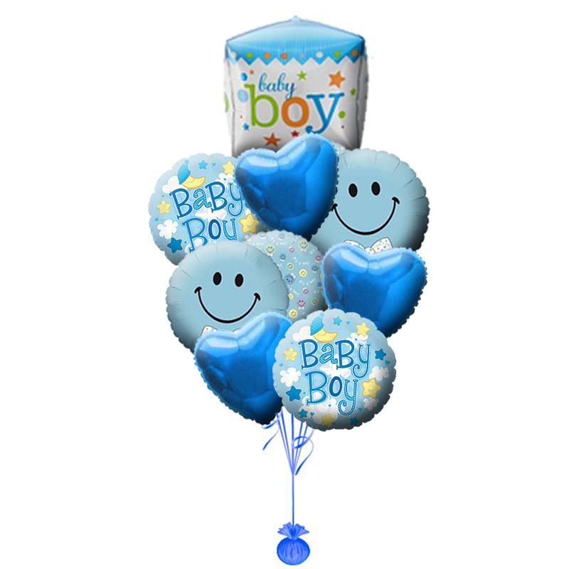 """Набор """"Baby boy"""" из фольгированных шариков в подарок мальчику - фото 1"""