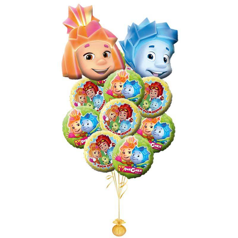 """Набор-поздравление с днем рождения """"Фиксики"""" из 8 фольгированных шариков - фото 1"""
