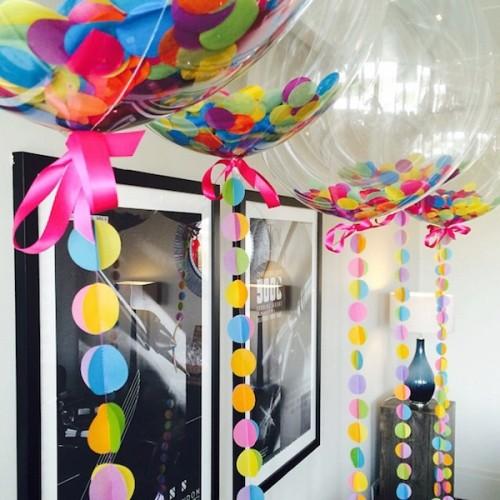 Прозрачные сферы с цветными конфетти Ассорти - фото 1