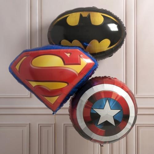 """Набор шаров """"Супергерои"""" из 3 фольгированных шариков - фото 1"""