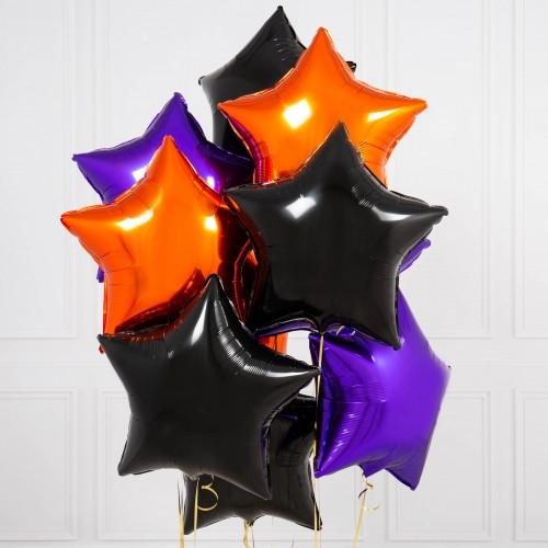 """Букет шаров """"Звездочки на небе"""" На Хэллоуин - фото 1"""