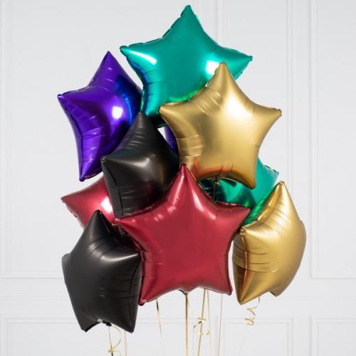 """Набор """"Звездопад"""" из 11 фольгированных надувных шаров - фото 1"""
