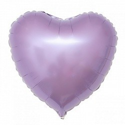 Фольгирванное гелиевое сердце, Сиреневое - фото 1