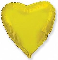 Фольгирванное гелиевое сердце, Золотое - фото 1