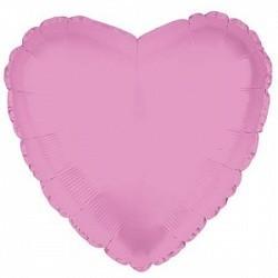 Фольгирванное гелиевое сердце, Розовое - фото 1