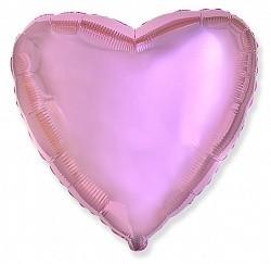 Фольгирванное гелиевое сердце, Светло-розовое - фото 1
