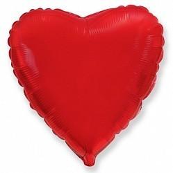 Фольгирванное гелиевое сердце, Красное - фото 1
