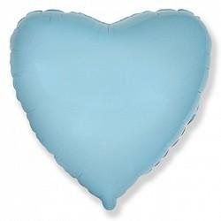 Фольгирванное гелиевое сердце, Голубое - фото 1