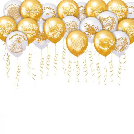 """Свадебный набор """"Совет да любовь"""" из 100 гелиевых шаров - фото 1"""