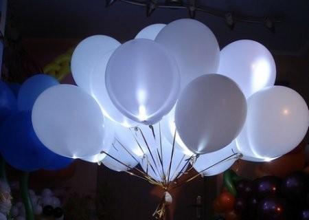 """Набор """"Ослепительный"""" из надувных шаров со светодиодами - фото 1"""