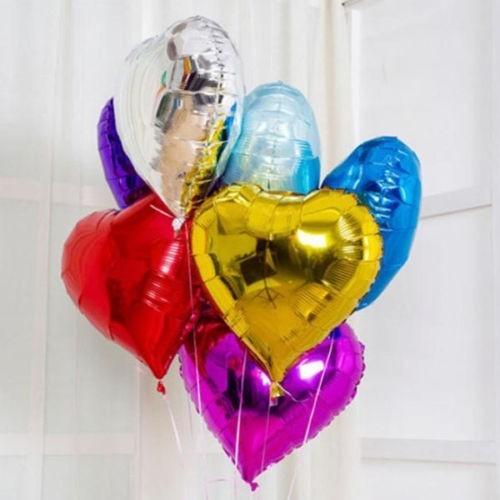 Фольгированные  воздушные сердца на свадьбу - фото 1