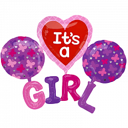 Набор на выписку девочке из фольгированных надувных фигур - фото 1