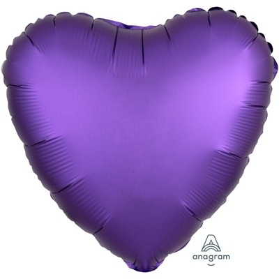Фольгированный шар-сердце, Сатин Purple Roayle - фото 1