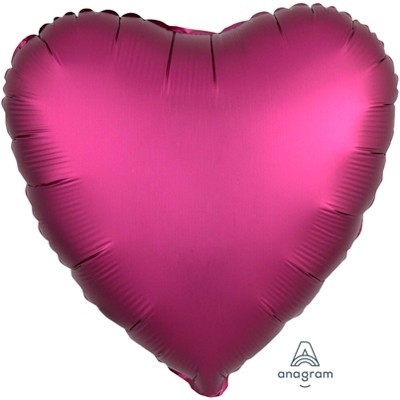 Фольгированный шар-сердце, Сатин Pomegranate - фото 1