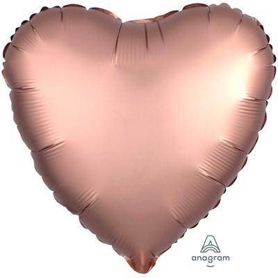 Фольгированный шар-сердце, Rose Copper - фото 1