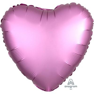 Фольгированный шар-сердце, Сатин Flamingo - фото 1