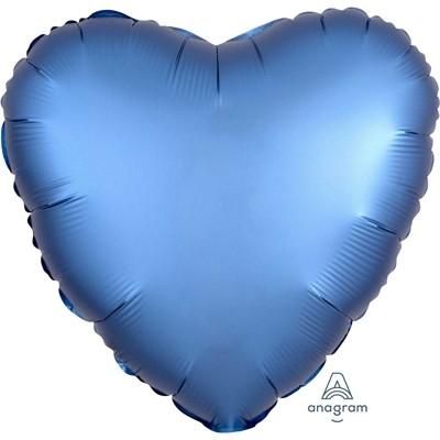 Фольгированный шар-сердце, Сатин Azure - фото 1
