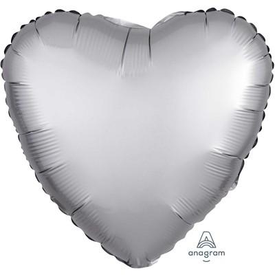 Фольгированный шар-сердце, Сатин Platinum - фото 1