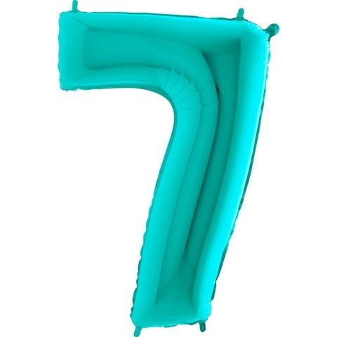 "Фольгированный шар-цифра ""7"", Тиффани - фото 1"