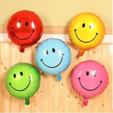 """Разноцветные фольгированные шарики """"Смайлы"""" - фото 1"""