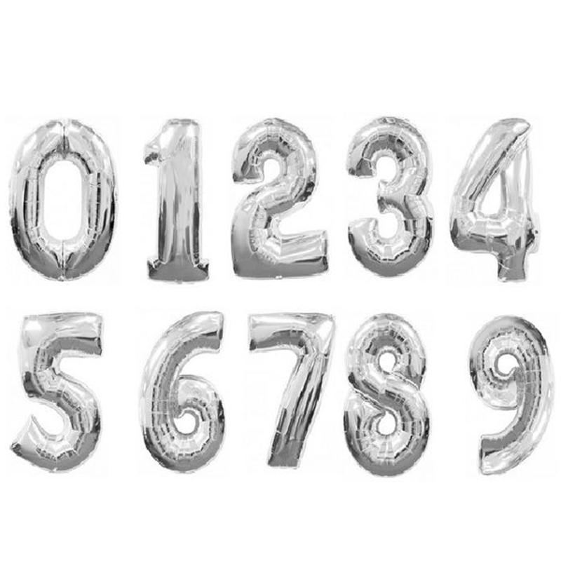 """Фольгированные шарики-цифры """"Серебро"""" - фото 1"""