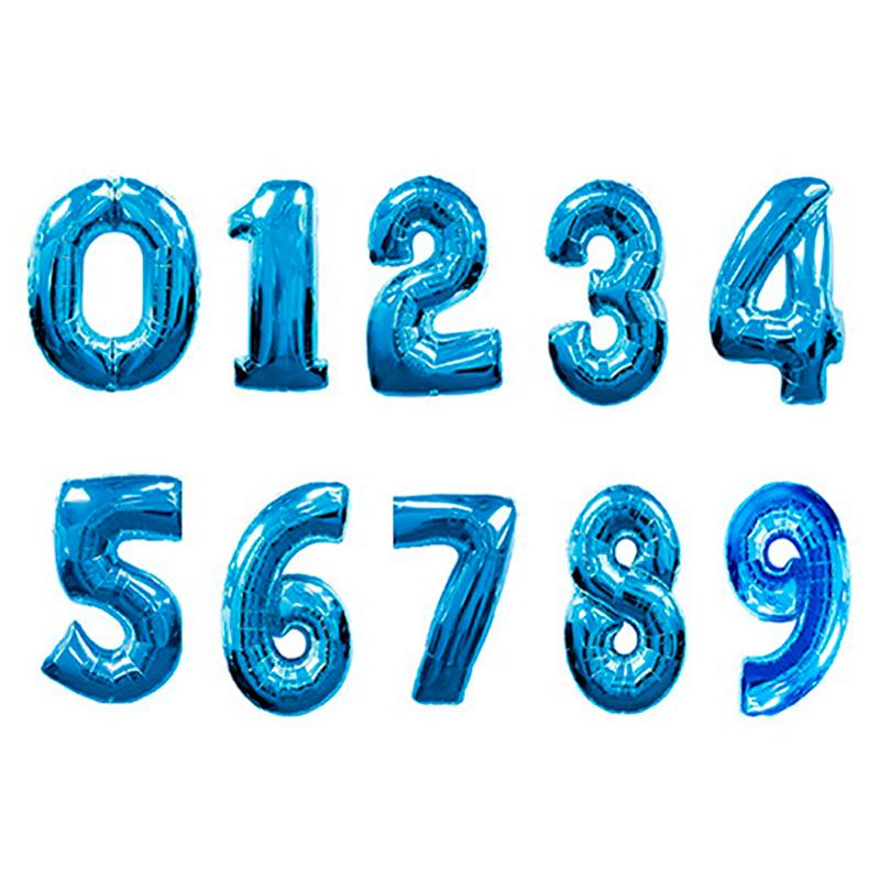 """Фольгированные шары-цифры """"Синие"""" на выбор - фото 1"""