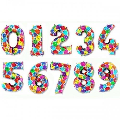 """Воздушные гелиевые шары-цифры из фольги """"Яркость"""" - фото 1"""